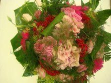 Bouquet rose de forme arrondie